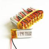 3.7V 110mAh 501225 de Navulbare Batterij van Lipo van het Polymeer van het Lithium voor MP3 MP4 de Hoofdtelefoon Bluetooth van het Stootkussen DVD