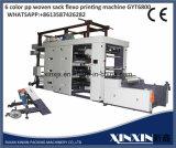 6 machine d'impression moins flexographique de vitesse de largeur de la couleur 800mm