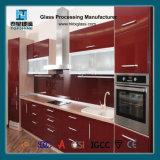平らな浮上した台所グラス飾り棚のドア