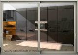 Venta caliente de cristal templado doble puerta corrediza de aluminio