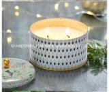 Candela naturale della soia della decorazione domestica, candela della soia