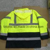 Workwear elevado do revestimento da segurança da visibilidade do estilo básico do inverno