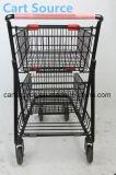Amerikanischer doppelter Supermarkt-Laufkatze-Einkaufswagen-kaufenlaufkatze