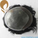 Toupee degli uomini sottili della pelle della nuova di stile parte indiana dei capelli umani