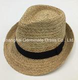 sombrero de paja de la rafia del sombrero 100%Straw con la venda gruesa de la corona de la cinta del aumento (Sh043)