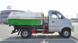 3 petites 6 roues Sinotruk de mètres cubes 3 tonnes de bras tombent le camion d'ordures