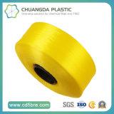 Filé jaune de filament de la qualité pp pour le lacet