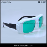 Anteojos de la protección del laser y gafas de seguridad rojos de lasers del diodo (IDT 630-660nm y 800-830nm) con el marco ajustable 36