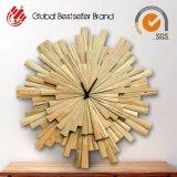 Orologio domestico di legno naturale di legno rotondo della decorazione (LH-M170704)