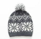 Горячий продавая милый шлем зимы жаккарда с POM POM