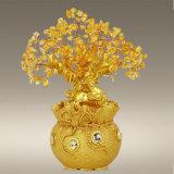 Estatua afortunada del árbol de la decoración de China de la abundancia rica de Pachira Macrocarpa