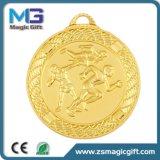 Antiker Zink-Legierungs-Zoll des Silber-3D Sports Marathon-laufende Medaillen und Trophäen