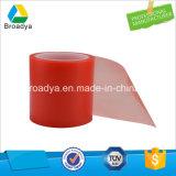 Fita adesiva vermelha do poliéster frente e verso de alta temperatura (BY6965HG)