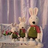 Felpa al por mayor del juguete del conejo con la bufanda