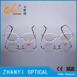 Het lichtgewicht Randloze Frame van de Glazen van Eyewear van het Oogglas van het Titanium Optische met Scharnier (8509-C1)