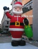 Grande Inflável Santa para a Celebração do Natal