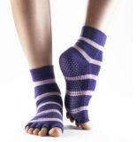 Носки йоги пальца ноги сжатия высокого качества противоюзовые Non-Slippery