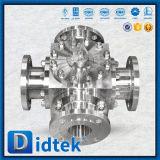 Фланец Didtek кончает шариковый клапан дороги нержавеющей стали CF8m 4