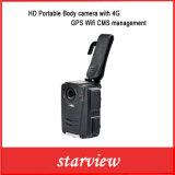 Appareil-photo portatif de corps de HD avec le management de cm de WiFi de 4G GPS