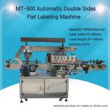 Автоматический двойник встает на сторону плоская машина для прикрепления этикеток для поверхности бутылок (MT-500)