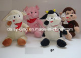 3 ursos do assento do Valentim do luxuoso dos tamanhos com material macio (somente a pele está disponível)