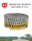 """Testa rotonda, tipo piano, 2-1/4 """" X. 099 """", tibia dell'anello, TUFFO caldo galvanizzato, i chiodi di raccordo fascicolati collegare da 15 gradi, chiodo della bobina"""