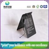 Etiqueta de papel de lujo de la caída de la impresión (negro, plástico)