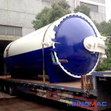 3000X8000mm horizontaler Dampf-indirekte Heizung GummiVulcanizating Autoklav