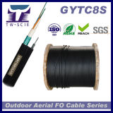 Figura de aço 8 de fio de mensageiro Auto-Suporta o cabo Gytc8s da fibra óptica