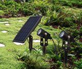 Lumière solaire de jardin de lampe de pelouse de DEL pour l'éclairage extérieur