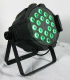 18*15W RGBWA (UV) 6 In1 단계 세척 LED 동위 빛