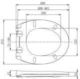 Amerikanischer Entwurfs-Standardgrößen-Wegwerftoiletten-Sitz