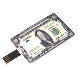Mecanismo impulsor de la tarjeta de crédito 128MB del flash del USB con la impresión libre de la insignia (TF-0422)