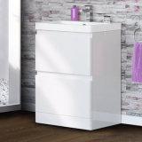 unità diritta di vanità della stanza da bagno del pavimento di bianco di 600mm & stanza da bagno moderna del bacino