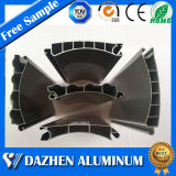 Blendenverschluss-Tür-Aluminiumstrangpresßling-Profil der Rollen-6063 T5 mit anodisiert
