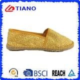 Chaussures occasionnelles populaires de femmes d'espadrilles plates et confortables (TN36712)