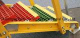 El FRP/GRP peldaños de escalera antideslizamiento, fibra de vidrio escalera antideslizamiento, rejillas de fibra de vidrio.