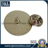고품질에 쳐진 금관 악기 반 칠보 접어젖힌 옷깃 Pin를 정지하십시오