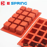 15 Kammer-Silikon-Quadrat-Würfel-Seifen-Form-Süßigkeit-Schokoladen-Formen