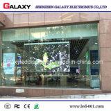 Visualización de pantalla transparente al aire libre del panel del LED para hacer publicidad de la cartelera