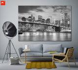 Impressão em tela em branco preto e branco de Nova York