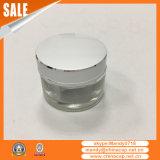Tarro de cristal vacío cosmético al por mayor con las tapas en China