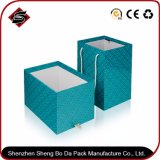 Rectángulo de papel de empaquetado de sellado caliente modificado para requisitos particulares del cajón para los artes y los artes