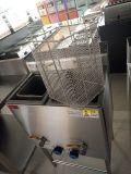 Matériel profond de cuisine de friteuse de double vertical de gaz