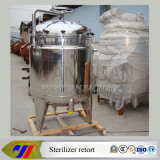 Retorta vertical de esterilizador para tipos de embalagens resistentes a altas temperaturas