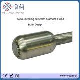 小型29mmの自己のレベルの下水道の20mから50mのガラス繊維ケーブル巻き枠が付いているビデオ管の点検カメラ