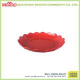 Plaque de serpent de mélamine de type de Chinease de couleur rouge