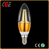Ampoule en aluminium de coulage sous pression de bougie de l'ampoule 4W E27 DEL