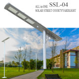 Habitação de alumínio inteligente Luz solar Ce LED Iluminação de rua Lâmpada de estrada Fotocélula