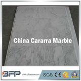 Losa de mármol grande de Carrara del blanco chino para los azulejos de suelo del cuarto de baño